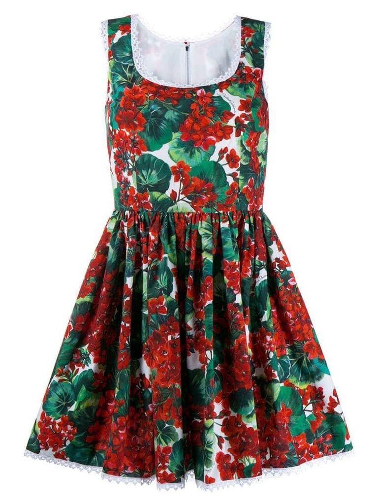 Dolce & Gabbana floral mini dress - Red