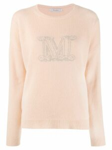Max Mara monogram print sweater - Neutrals