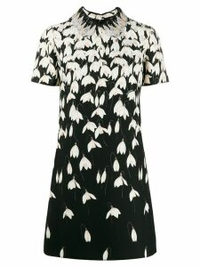 Valentino floral print shift dress - Black