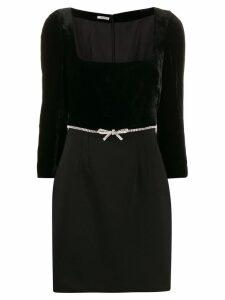 Miu Miu embellished mini dress - Black