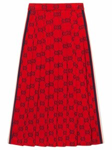 Gucci GG jersey skirt with red web ribbon