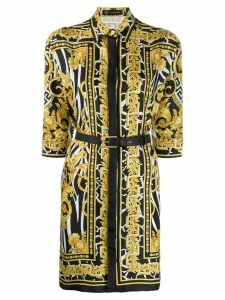 Versace Baroque print shirt dress - Black