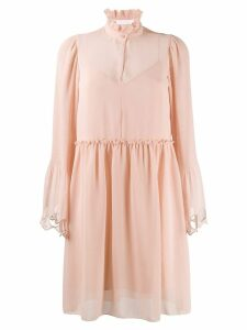See By Chloé bell sleeve dress - NEUTRALS