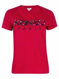 Kenzo logo patch T-shirt - Red
