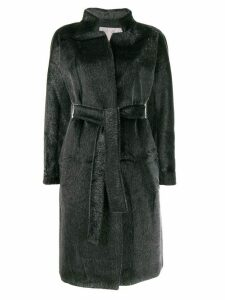 Herno textured belted coat - Grey