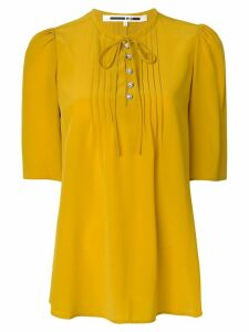 McQ Alexander McQueen front bow-tie blouse - Yellow