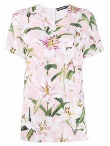 Dolce & Gabbana floral T-shirt - Pink
