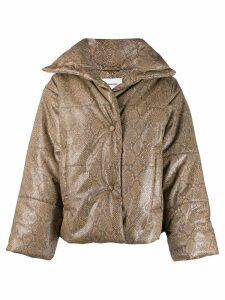 Nanushka padded down jacket - Brown