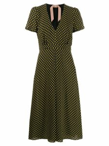 Nº21 polka dot midi dress - Black