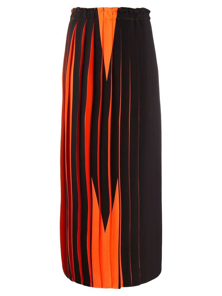 Mm6 Maison Margiela graphic print skirt - Orange