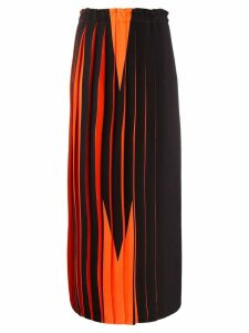 Mm6 Maison Margiela graphic print skirt - Orange