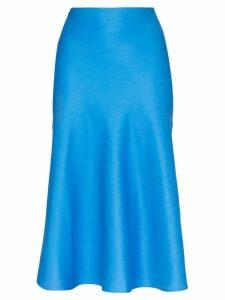 Carcel high-waist midi-skirt - Blue