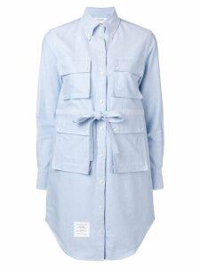 Thom Browne Oxford Hunting Shirtdress - Blue