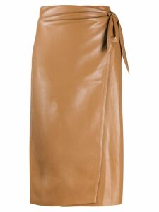 Nanushka Amas wrap skirt - Brown