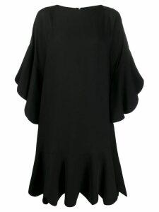 Valentino scalloped shift dress - Black