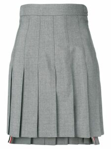 Thom Browne High Waist School Uniform Miniskirt - Grey
