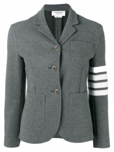 Thom Browne 4-Bar Stripe Sport Coat - Grey