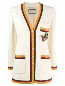 Gucci knitted cardigan - White