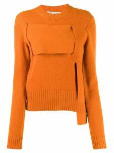 Bottega Veneta woven cashmere jumper - Orange