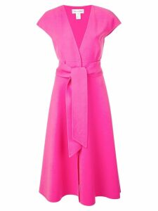 Oscar de la Renta waist-tied midi dress - Pink