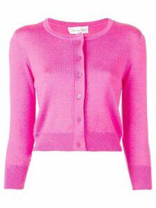 Oscar de la Renta classic slim-fit cardigan - Pink