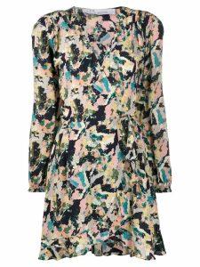 Iro Bloom LS print dress - Green