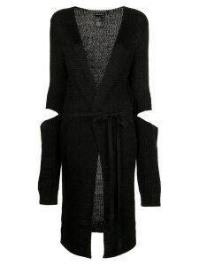 Ann Demeulemeester detached longline cardigan - Black