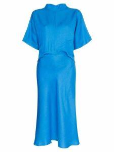 Carcel high-neck midi dress - Blue