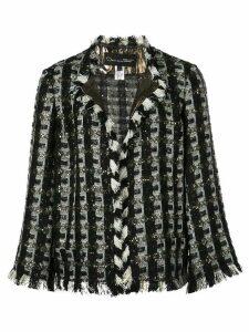 Oscar de la Renta embroidered fitted jacket - Black