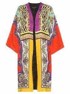 Etro patch print jacquard kimono - Multicolour