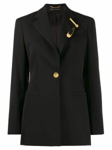 Versace tailored long-length blazer - Black
