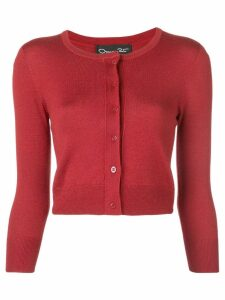 Oscar de la Renta classic slim-fit cardigan - Red