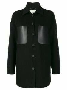 Fendi cashmere cocoon coat - Black