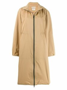 Bottega Veneta long trench coat - Brown