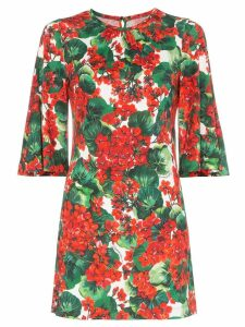 Dolce & Gabbana Geranium print mini dress - Red