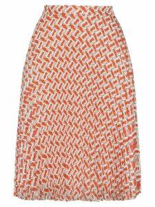 Burberry monogram printed skirt - Vermillion Red Ip Pt