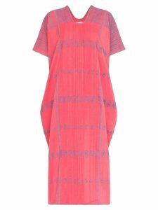 Pippa Holt embroidered kaftan midi dress - Pink