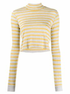 Alexander Wang stripe knitted top - Yellow