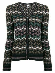 M Missoni geometric pattern cardigan - Brown
