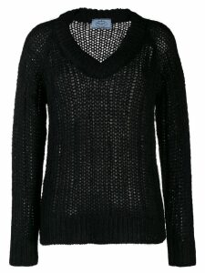 Prada open stitch sweater - Black
