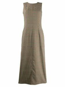 Mm6 Maison Margiela sleeveless check dress - Neutrals