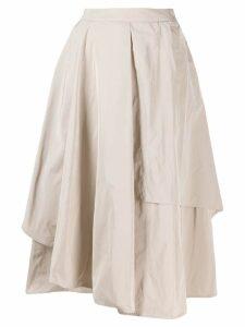 Peserico asymmetric midi skirt - Neutrals