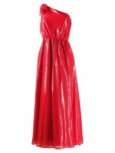 MSGM one shoulder dress - Red