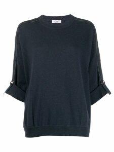 Brunello Cucinelli cashmere sweatshirt - Blue