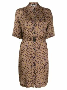 PS Paul Smith cheetah print shirt dress - Brown