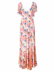 Staud Blossom print maxi dress - Pink