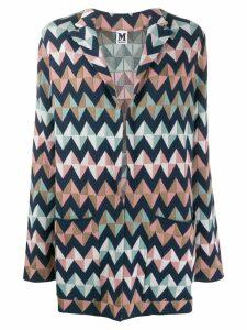 M Missoni oversized zigzag blazer - Pink
