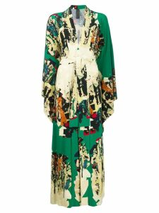 Norma Kamali long robe dress - Green