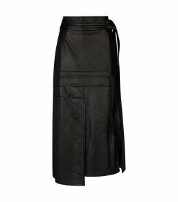 Leather Patchwork Skirt