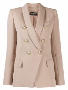 Balmain Double-breasted wool blazer - Neutrals